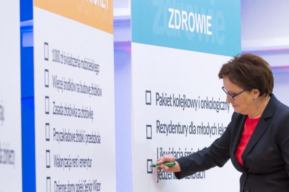 Jakie obietnice z expose Ewy Kopacz udało się spełnić?