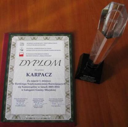 Nagroda dla Karpacza (fot. UM Karpacz)