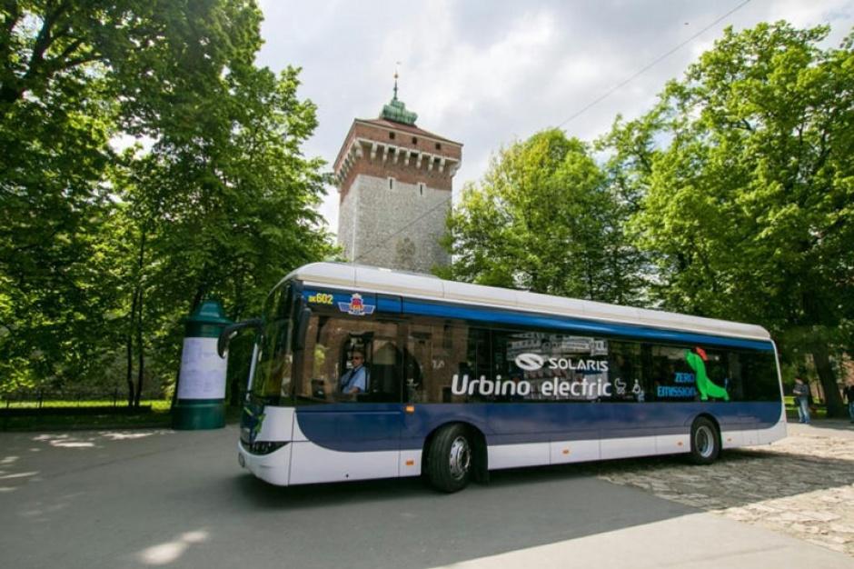 Solaris dostarczy do Krakowa cztery autobusy elektryczne