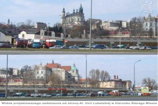 Lublin: Nowe Błonia z Targiem pod Zamkiem