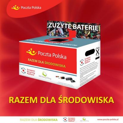 Zużyte baterie oddasz w każdym punkcie Poczty Polskiej