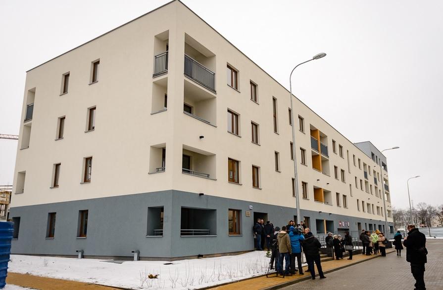 W nowym budynku znajduje się 70 mieszkań (fot.bialystok.pl/Dawid Gromadzki)
