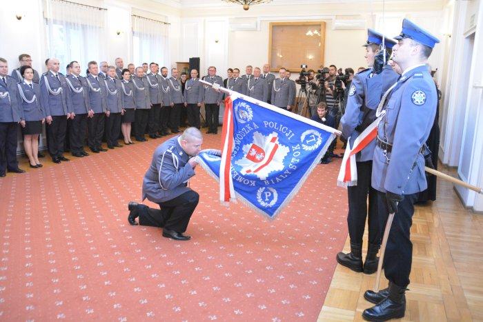 Uroczystość powołania Komendanta Wojewódzkiego Policji w Białymstoku (fot.KWP Białystok/msw.gov.pl)