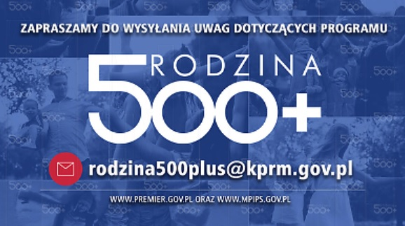 Ministerstwo czeka na uwagi w sprawie programu 500+ (fot.mpips.gov.pl)