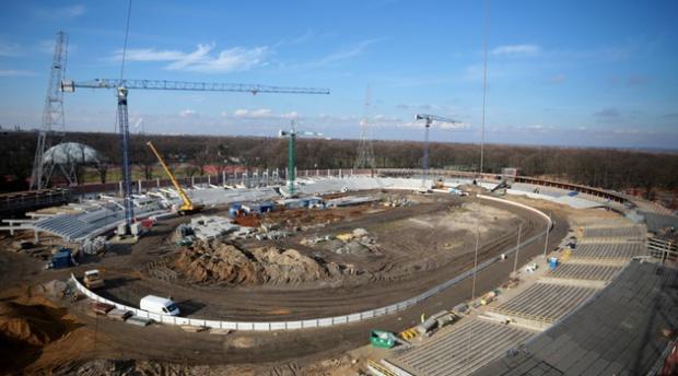 Wrocław, Stadion Olimpijski: prace minęły półmetek