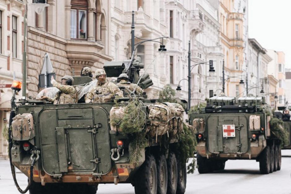 Łódź: US Army na Piotrkowskiej
