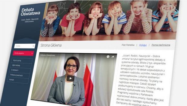Anna Zalewska, MEN zapowiada wielką debatę o zmianach w oświacie
