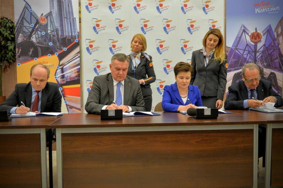 Pierwsza umowa na rozbudowę II linii metra podpisana