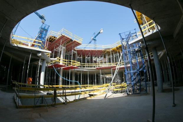 Zdjęcie z budowy galerii