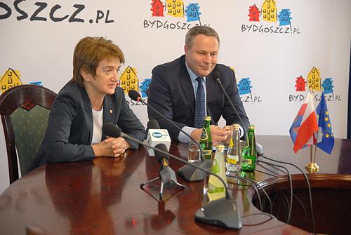 Maria Wasiak i Rafał Bruski (fot.bydgoszcz.pl)