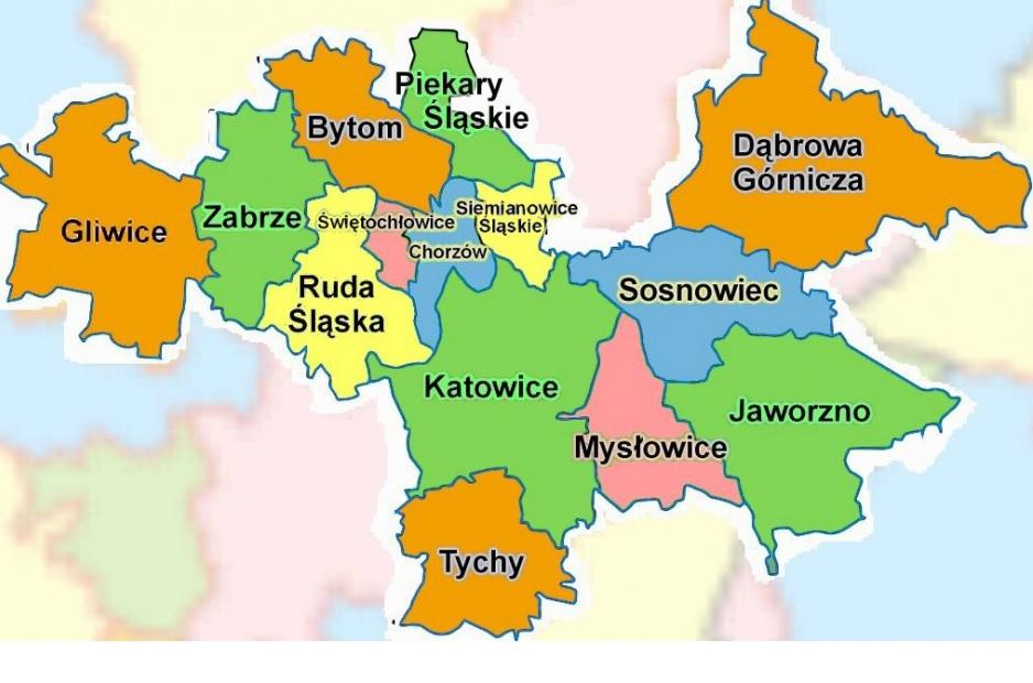 Miasta w GZM (fot.wikipedia.org)