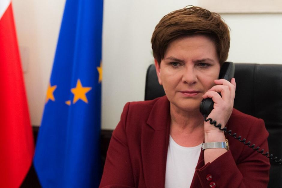 """Premier Szydło o  """"politycznych działaniach"""" radnych"""