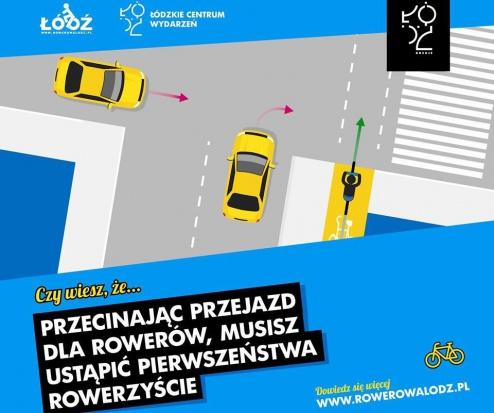 W Łodzi dbają o bezpieczeństwo rowerzystów