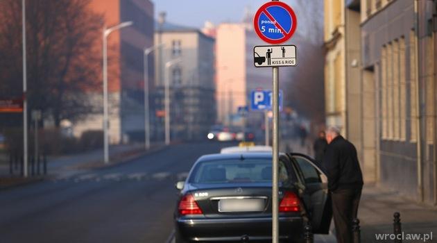 Tak wygląda oznakowanie kiss&ride we Wrocławiu (fot. UM Wrocław)
