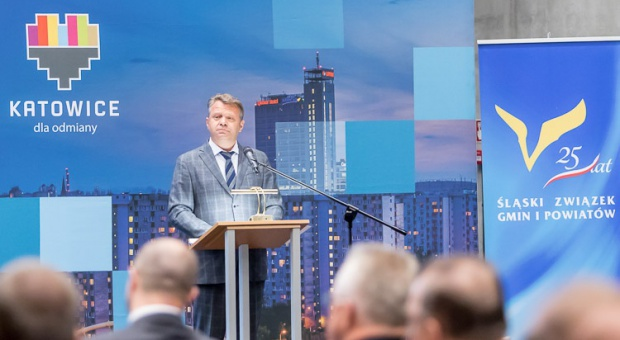 Podczas jubileuszowej sesji, która odbyła się w Międzynarodowym Centrum Kongresowym w Katowicach, uhonorowano instytucje współpracujące ze związkiem oraz osoby zasłużone w jego działalności (fot.slgip.pl)