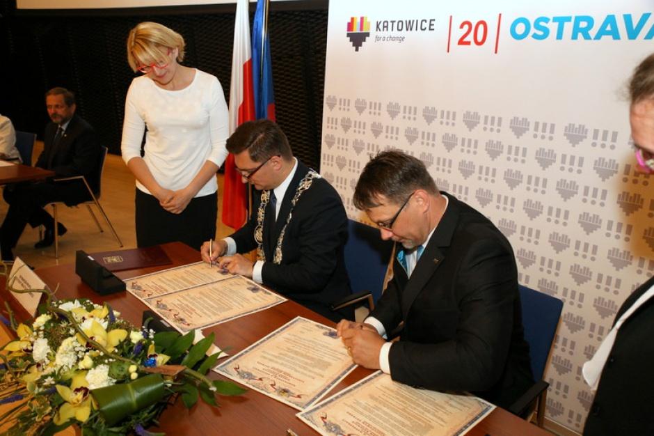 Współpraca: Katowice i Ostrawa chcą dalej wspólnie działać na rzecz rozwoju miast