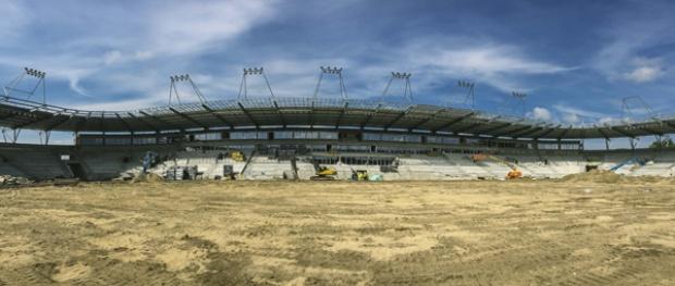 Łódź. Stadion Widzewa w ostatniej fazie