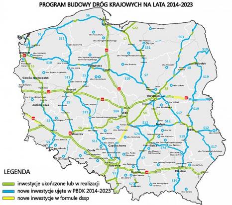 Program budowy dróg krajowych do roku 2023