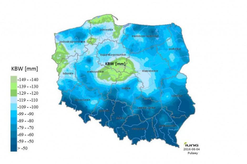 Raport zagrożenia suszą rolniczą: Susza w 6 województwach