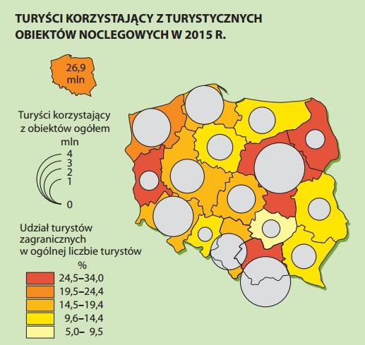 Najliczniej odwiedzane województwa (grafika: GUS)