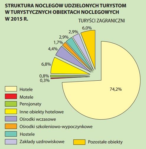 Najwięcej turystów wybiera hotele (grafika: GUS)
