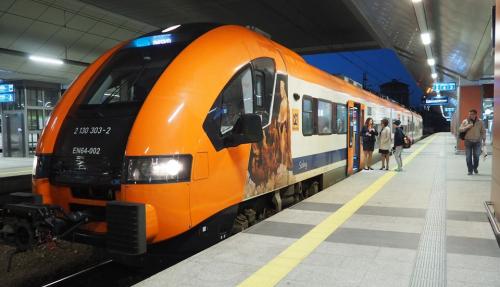 Na razie pociągi Kolei Małopolskich obsługują dwie linie, m,in. do lotniska w Balicach. Za trzy lata mają jednak przejąć wszystkie połączenia regionalne w Małopolsce.Fot. : mat. PKP PLK