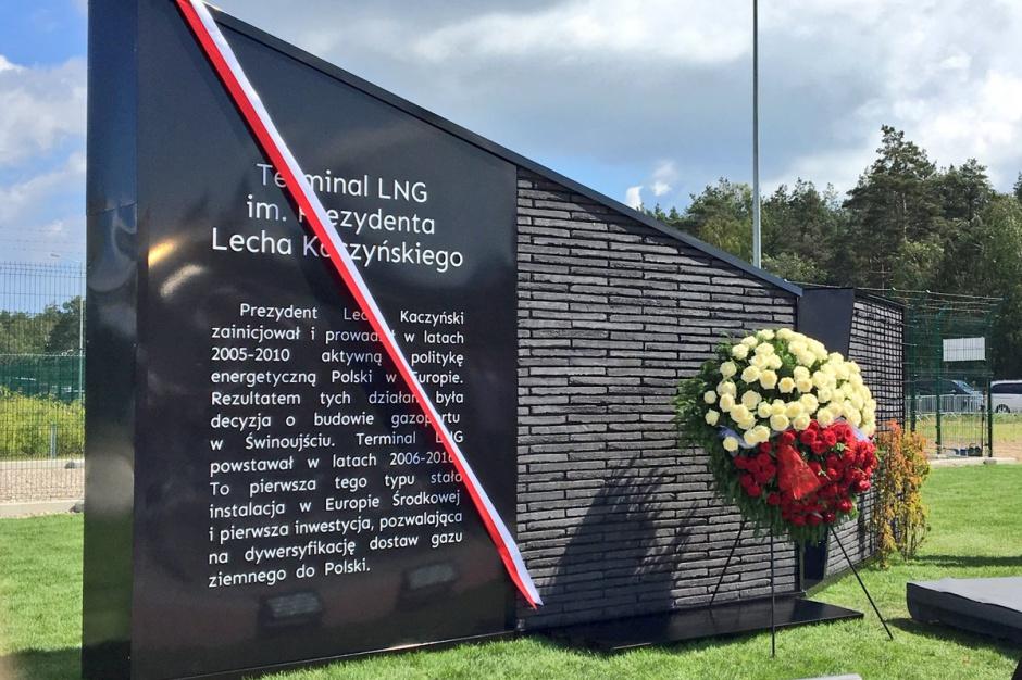 Lech Kaczyński patronem terminala LNG w Świnoujściu