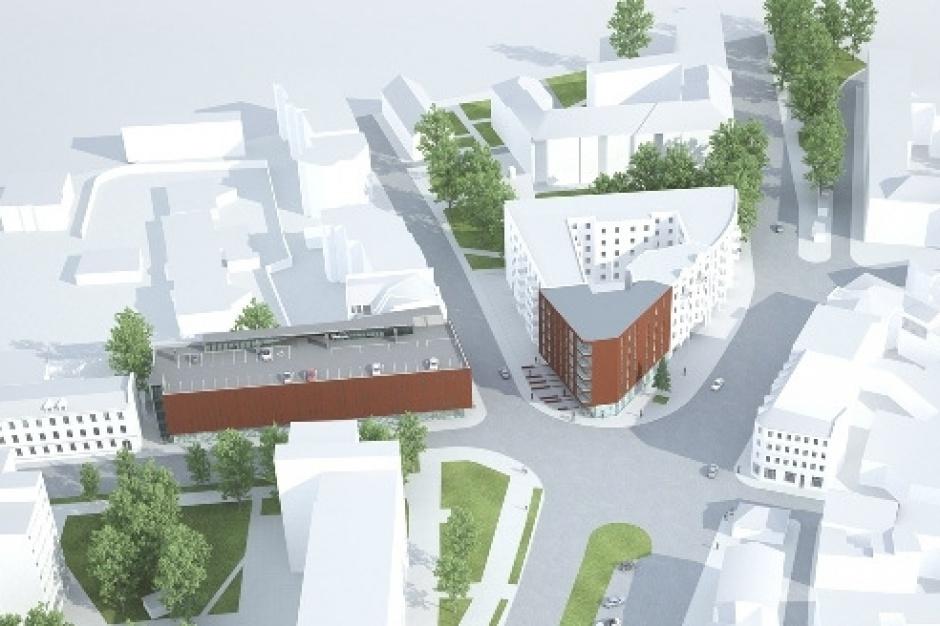 W Gliwicach powstaje piętrowy parking w centrum miasta