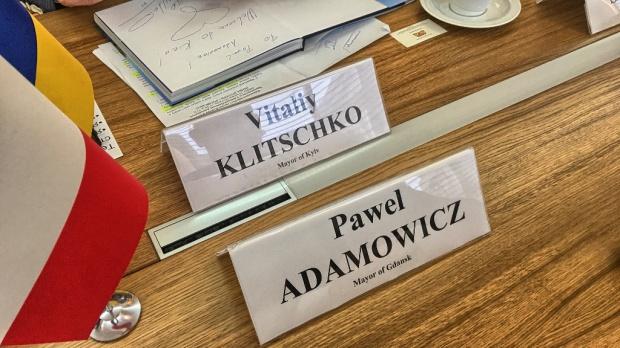 Temat walki z korupcją zdominował wizytę prezydenta Gdańska Pawła Adamowicza w stolicy Ukrainy i jego spotkanie z merem Kijowa Witalijem Kliczką (fot.gdansk.pl)