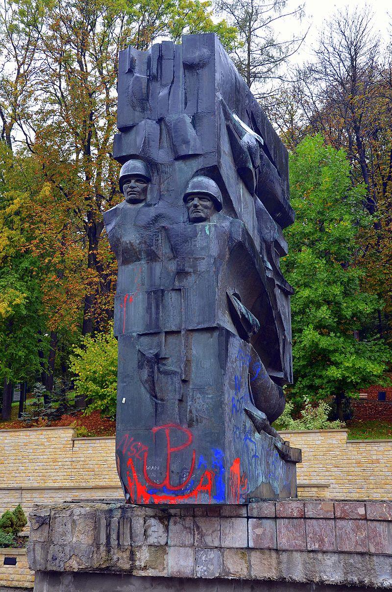 Pomnik Wdzięczności Żołnierzom Armii Czerwonej w Sanoku (fot. wikipedia.org)
