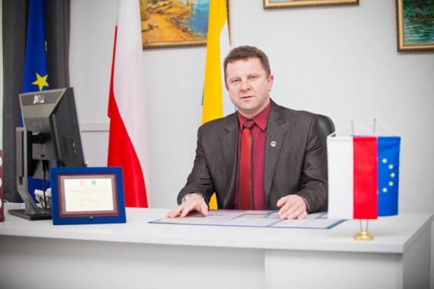 Wójt Grzegorz Kapica (fot. UG Józefów nad Wisłą)