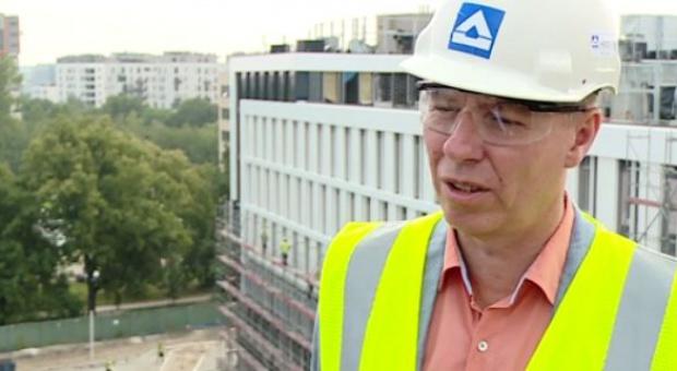 Konrad Redlich, kierownik kontraktu II etapu inwestycji Business Garden Warszawa (fot.newseria)