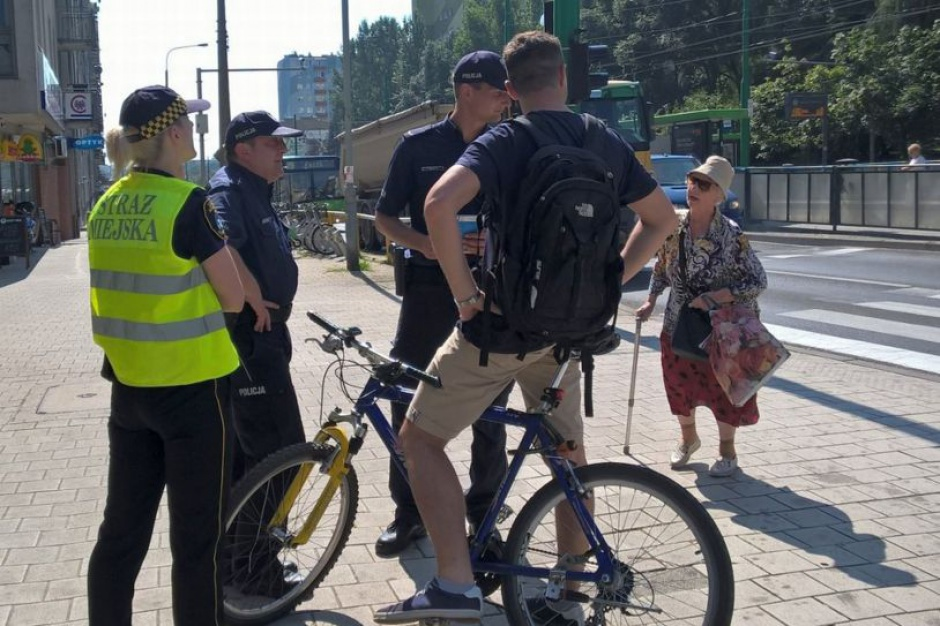 Poznań: Rowerzyści na chodnikach na celowniku straży miejskiej