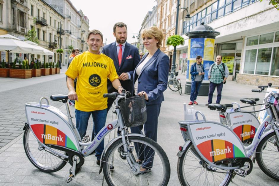 Łódź, rowery miejskie: Milionowe wypożyczenie roweru