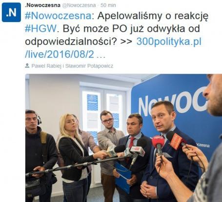 Konferencja prasowa Nowoczesnej (fot.twitter.com)