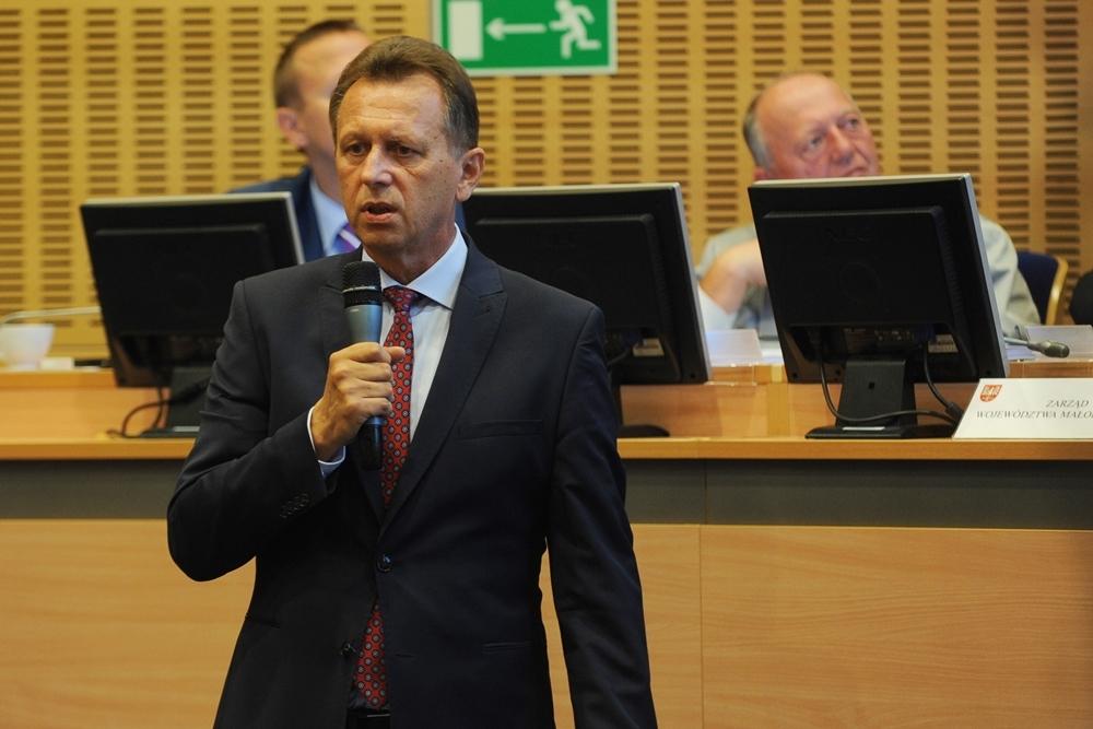 Marszałek Jacek Krupa zaznaczył, że Wojewódzka Rada Dialogu Społecznego nie jest organem politycznym. (fot. malopolska.pl)