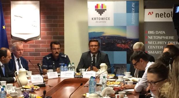 Konferencja dotycząca monitoringu w Katowicach (fot.twitter.com)