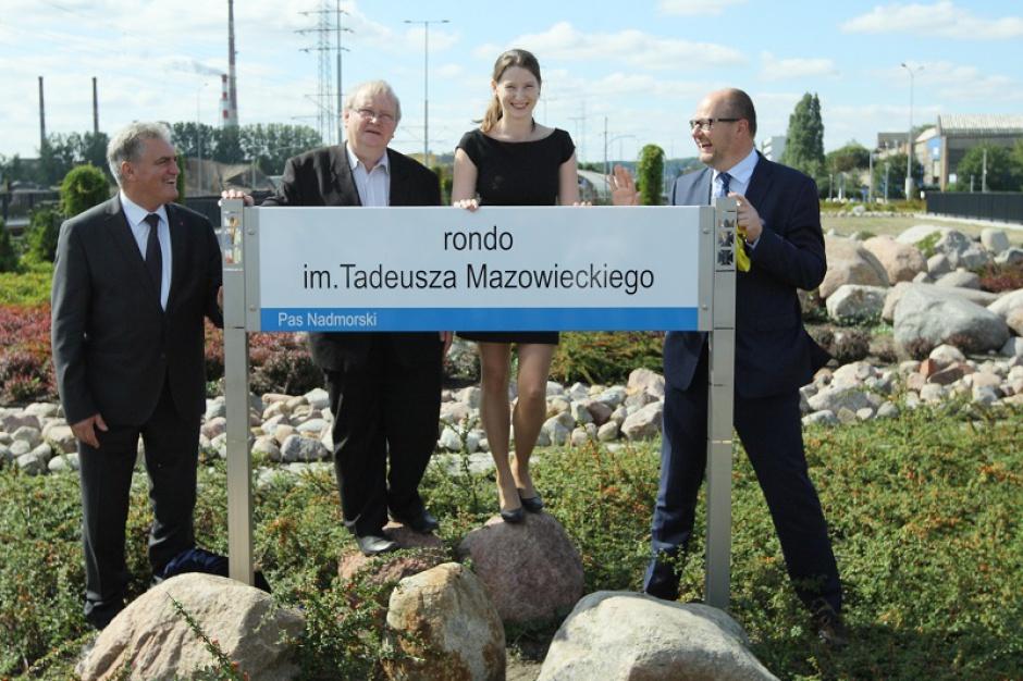 Największe rondo w Gdańsku otrzymało imię Tadeusza Mazowieckiego