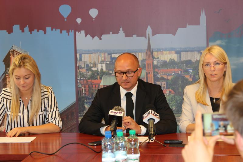 Cieszy duże zainteresowanie, z jakim spotykają się kolejne edycje Budżetu Obywatelskiego Włocławka – mówił na konferencji prezydent miasta Marek Wojtkowski (fot.UM Włocławek)