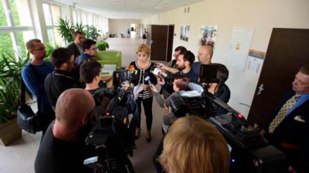 Przygotowaliśmy pismo do pani premier Beaty Szydło z prośbą o zniesienie, do czasu zakończenia budowy ringu autostradowego wokół Łodzi, opłat viaTOLL - mówi Hanna Zdanowska (fot.lodz.pl)