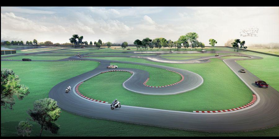 W Moto Parku Kraków będzie tor o długości do 1,2 km. Fot. Mat. prasowe