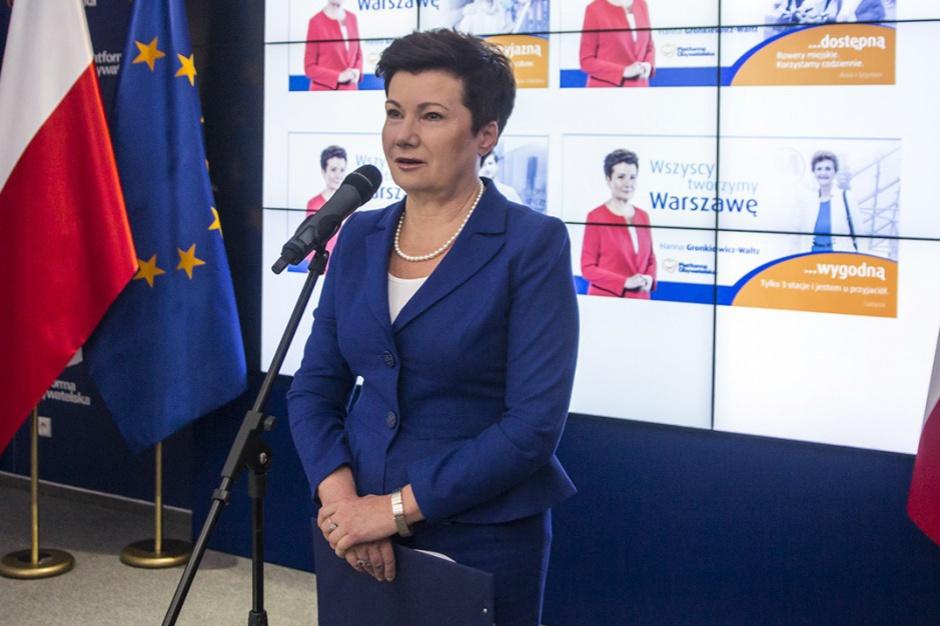 Gronkiewicz-Waltz o referendum: zostałam wybrana na całą kadencję