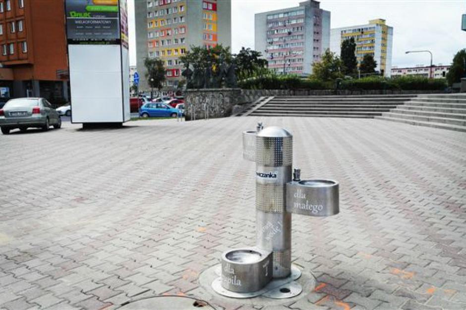 Konin: Zainstalowano poidełka dla mieszkańców i zwierząt