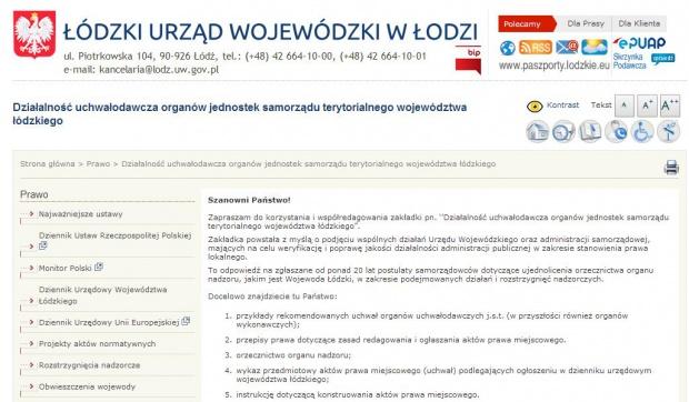 Wzory uchwał, Łódzkie: wojewoda zachęca samorządy do ujednolicenia lokalnego prawa
