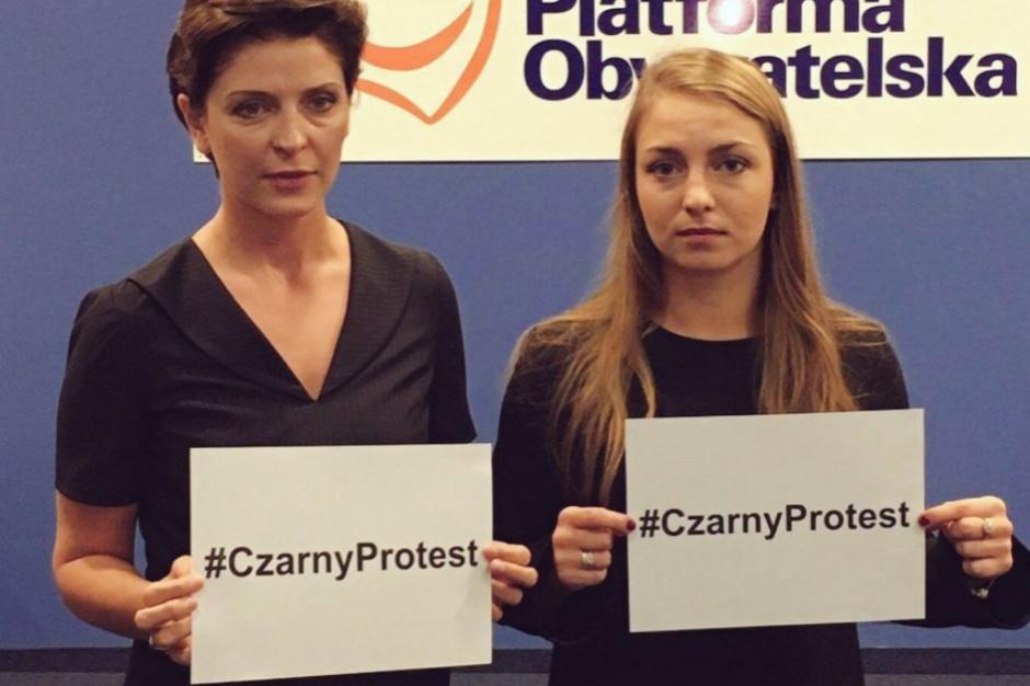 Aborcja, czarny protest: PO awołuje kobiety z całej Polski