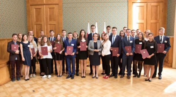 Minister Zalewska z członkami Rady Dzieci i Młodzieży Rzeczypospolitej Polskiej przy MEN (fot.men.gov.pl)