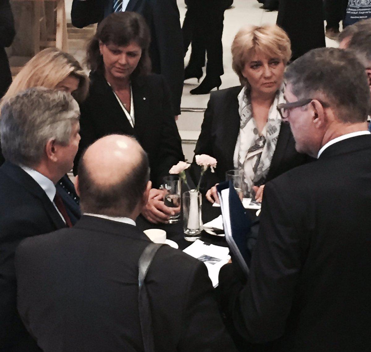Ilse Aigner, wicepremier Bawarii gościła w Łodzi wraz z 40 bawarskimi przedsiębiorcami. (fot. Łódź/Twitter)