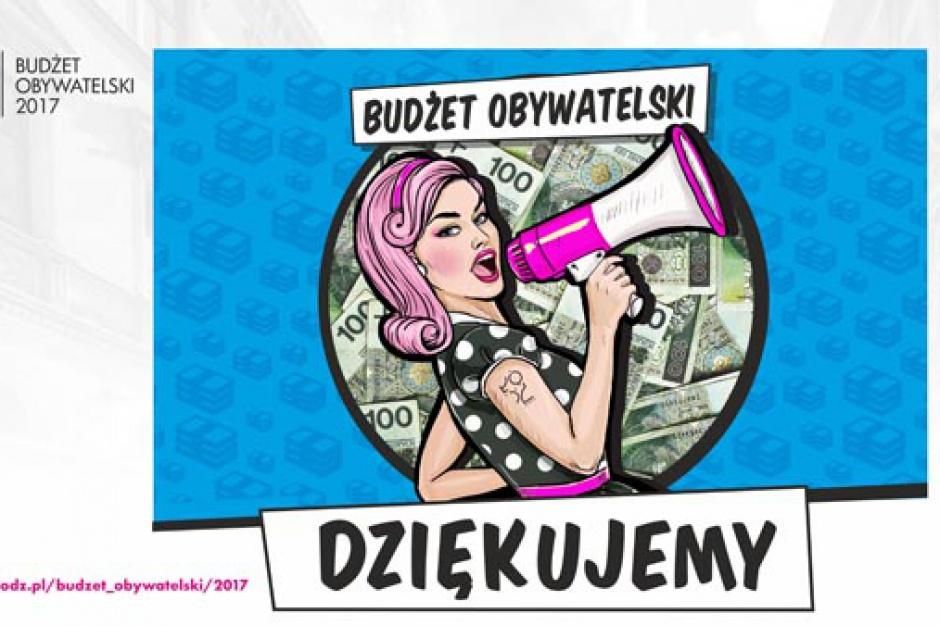 Łódź: Rekordowy budżet obywatelski na 2017 rok. Zrealizują 218 projektów