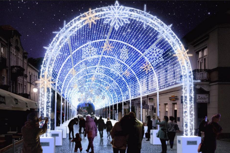 Dekoracje świąteczne na Boże Narodzenie: Radom będzie miał tunel świetlny