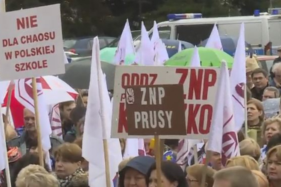 Likwidacja gimnazjów, protest nauczycieli: Znamy przebieg Ogólnopolskiej Manifestacji Pracowników Oświaty